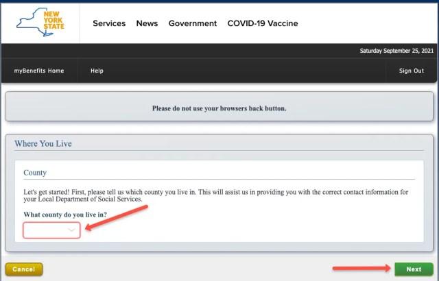 """""""Create a Mybenefits.ny.gov Account 2"""""""