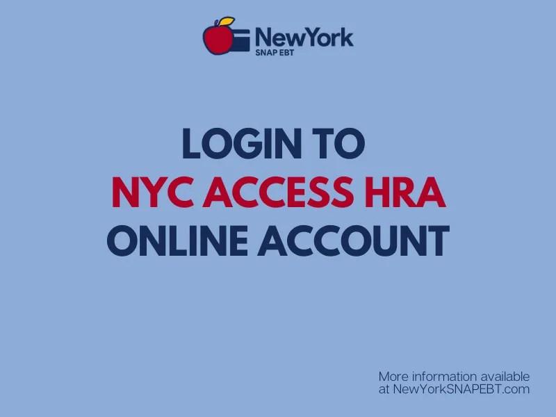 """""""NYC ACCESS HRA Password Reset"""""""