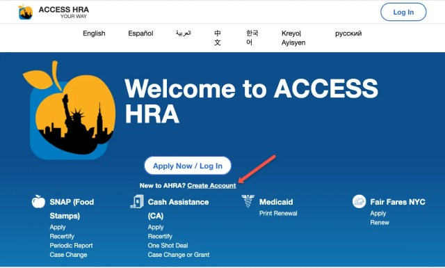 """New York City Access HRA Account"""