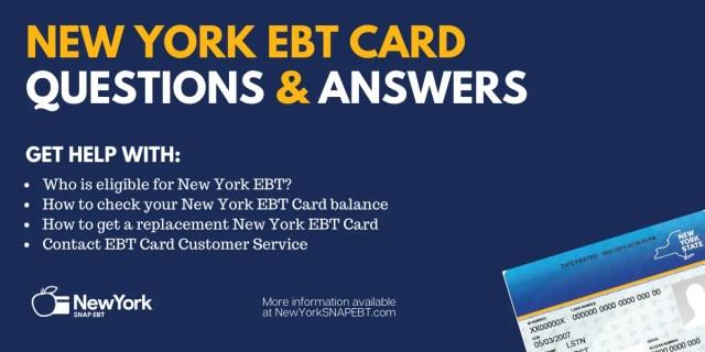 """""""New York EBT Card FAQs"""""""