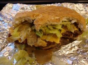 Cheeseburger 2 from Carnegie John's 1-7-10