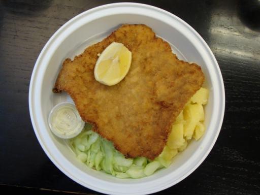 Pork schnitzel platter