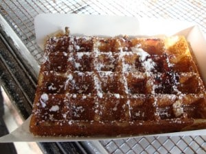 Bacon syrup wafel
