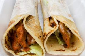 chicken kathi roll (not from class)