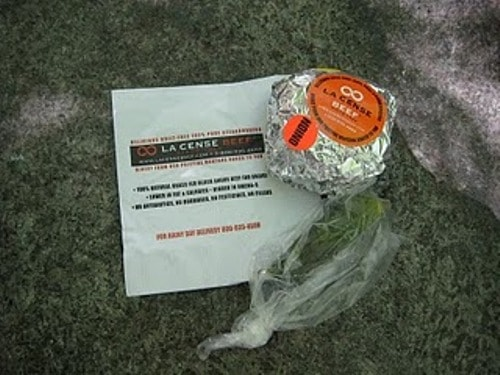 wrapped burger