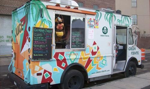 Green Pirate Juice Truck