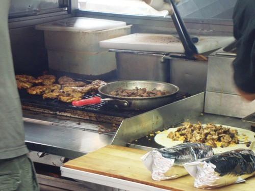 grill to saute to burrito