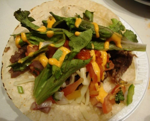 Beef taco from Korilla BBQ's Launch Party