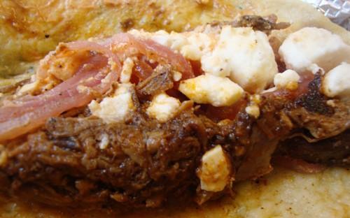 lamb taco closeup