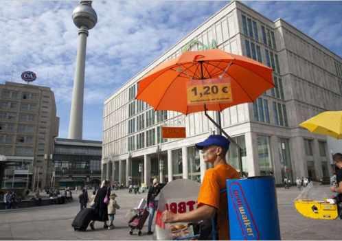 Grillwalker in Berlin
