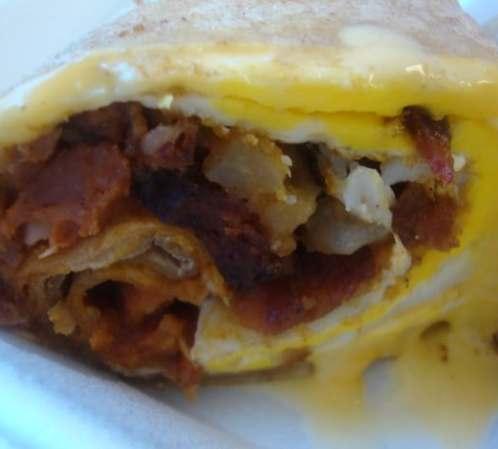 Mexican Wrap (eggs, potato, chorizo & cheese)