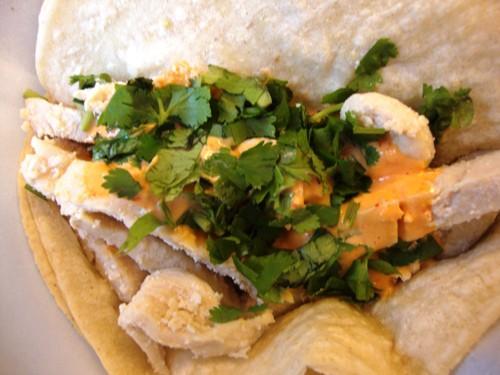 spicy chicken taco