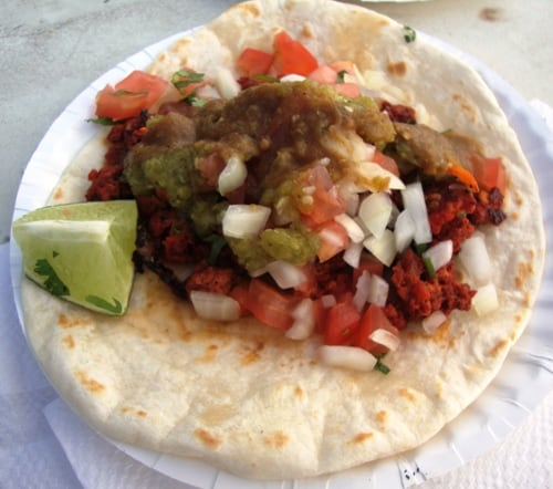 chorizo taco