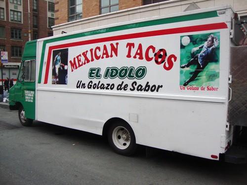 Chicken Tinga Burrito From El Idolo Truck New York Street Food