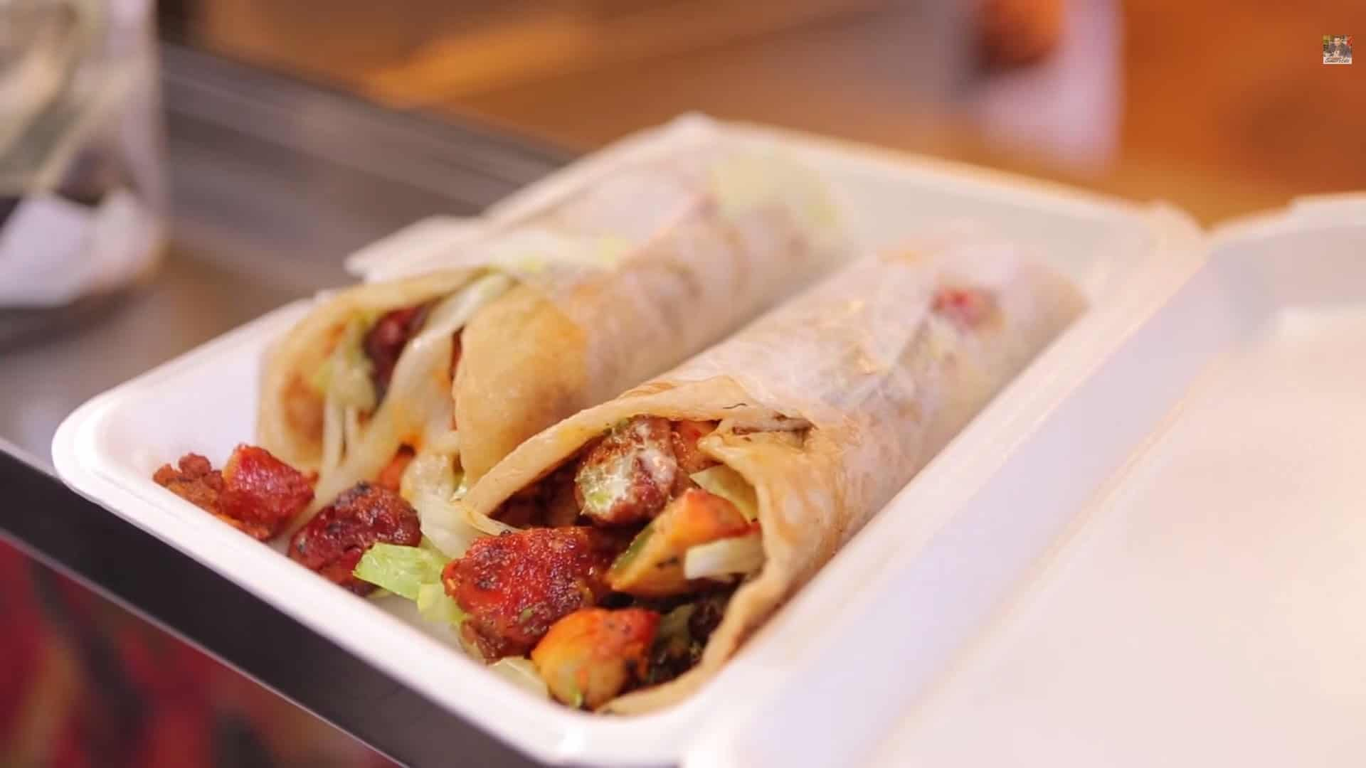 What A Kati Roll At Bhabi Halal Food New York Street Food