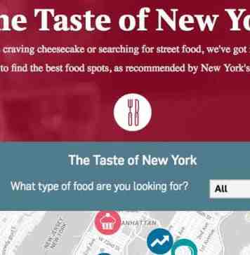 Interactive Food Map