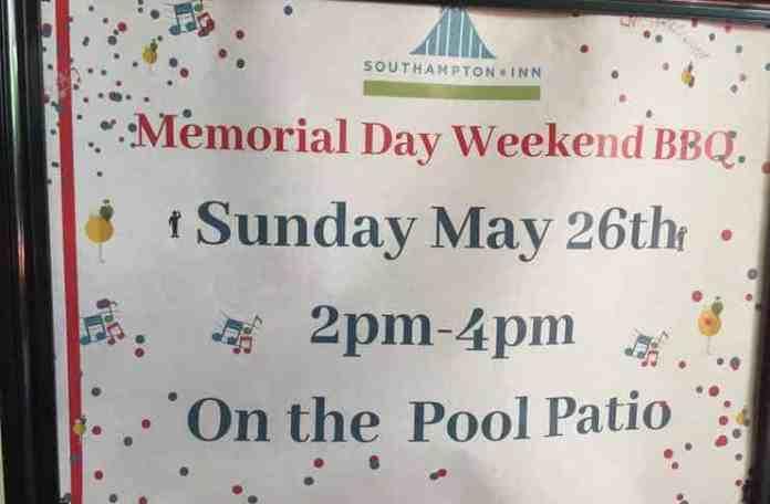 South Hampton Inn Memorial Day BBQ