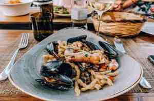 Seafood and Chardonnay