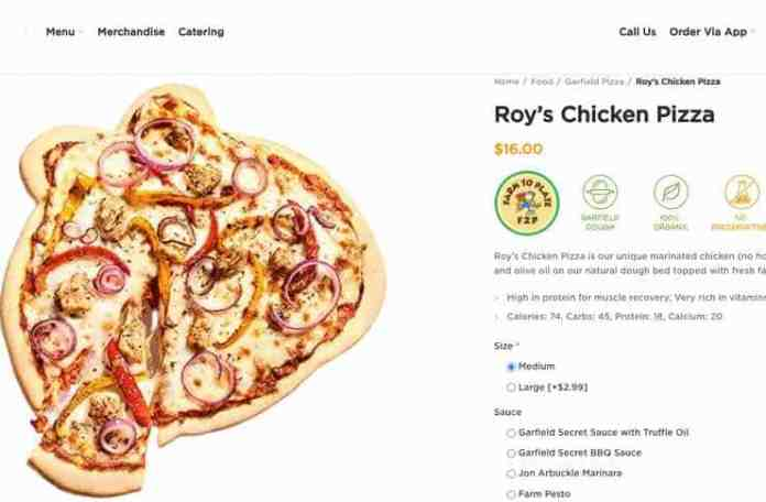 roys Chicken pizza