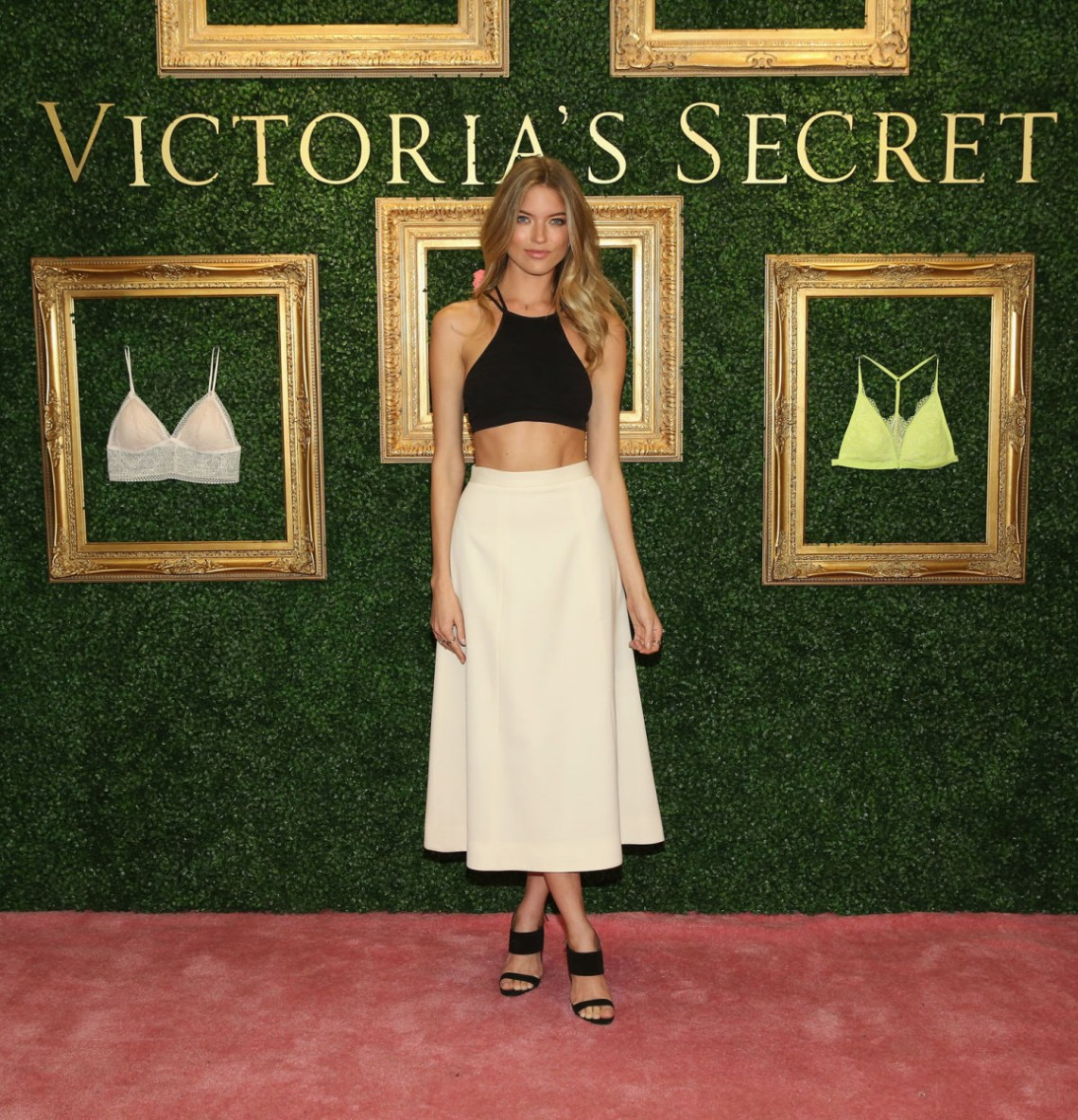 """NEW YORK, NEW YORK - APRIL 12:  Victoria's Secret Angel Martha Hunt hosts global media live stream to reveal Bralette Collection & launch multi-city tour at Victoria's Secret Herald Square on April 12, 2016 in New York City  (Photo by Cindy Ord/Getty Images for Victoria's Secret)"""