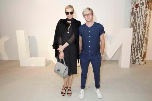 Eva Herzigova & Niall Horan attend Oliver Spencer show at BFC Show Space