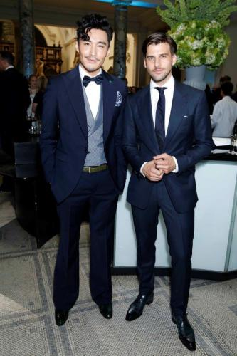 LCM ambassador HuBing & Johannes Huebl at One For the Boys Chaity Ball