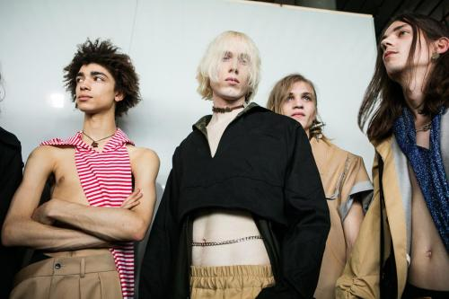 Xander Zhou SS17 (Eeva Rinne, British Fashion Council) Backstage