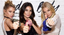 "Victoria's Secret Angels Lily Aldridge, Elsa Hosk and Stella Maxwell Launch the all-new ""Easy"" Collection from Body By Victoria in NYC"