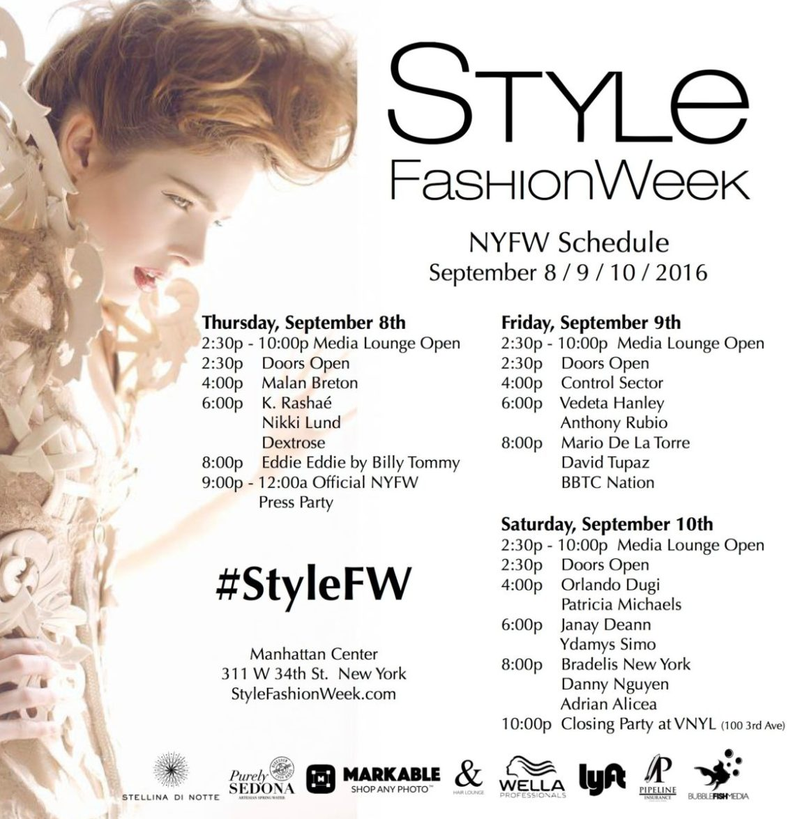 Style Fashion Week - NYFW Schedule