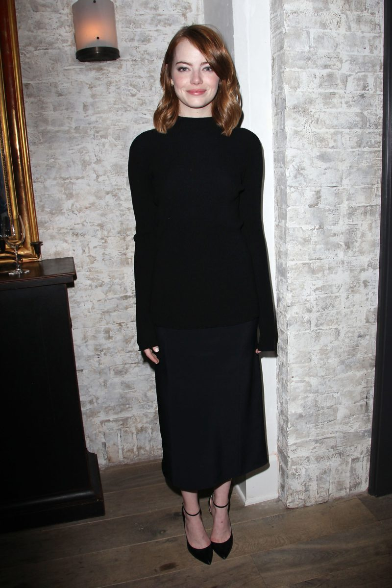 """New York, NY - - 11/27/16 -Bulleit Bourbon Hosts a Luncheon to Celebrate """"LA LA LAND"""" at Le Coucou. The film is written and directed by Damien Chazelle, and stars Emma Stone and Ryan Gosling. It releases in theaters on December 16th, 2016. -Pictured: Emma Stone -Photo by: Kristina Bumphrey/StarPix"""
