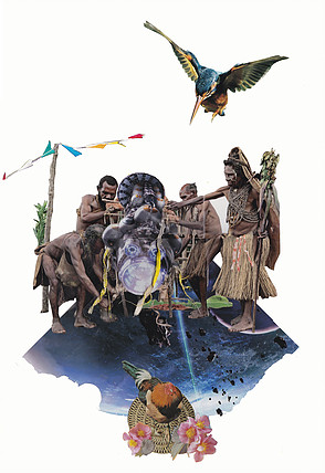 nyugen-smith_afrofewcharizm-foreva-in-dis-piece_collage_17-x11-in_2015