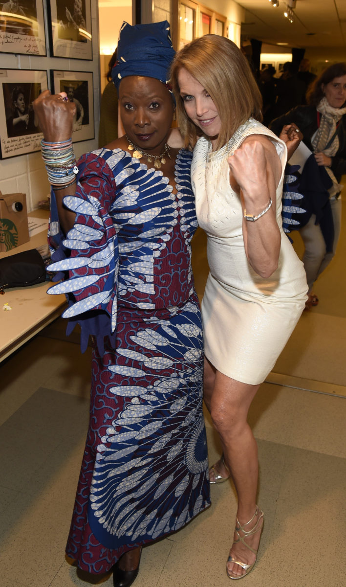 Angelique Kidjo Katie Couric at Daivid Lynch Foundation National Night of Laughter and Song