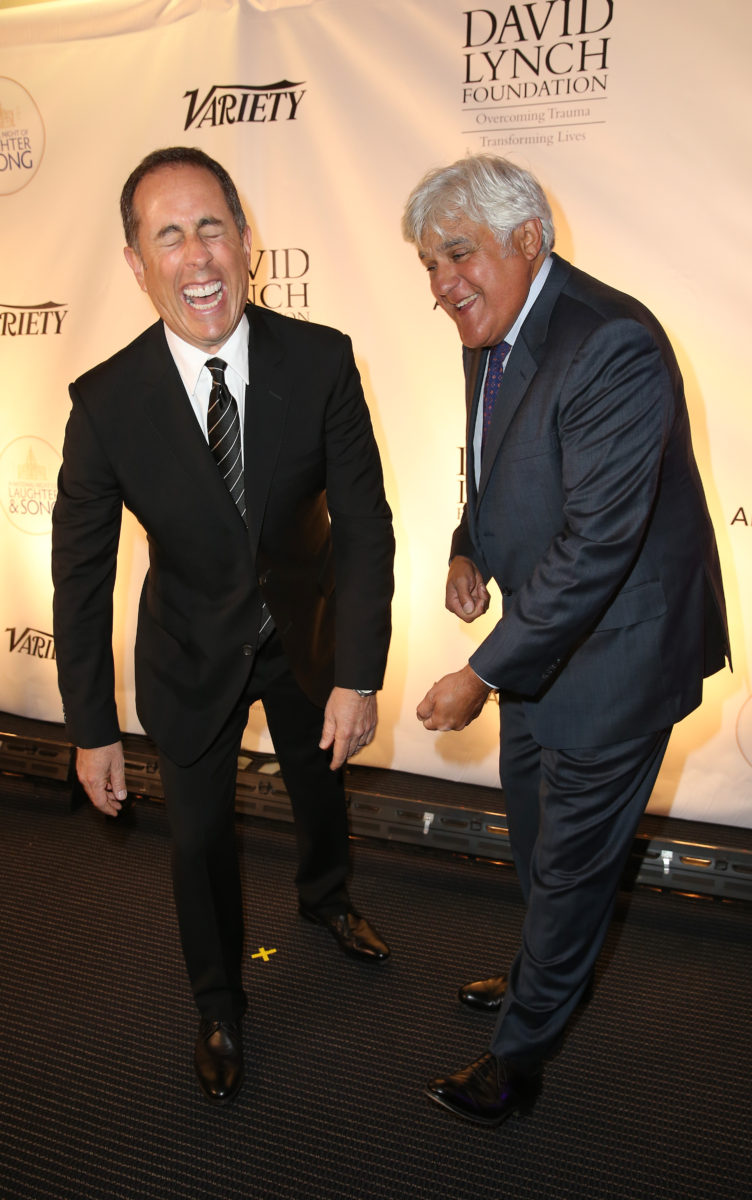 Jerry Seinfeld Jay Leno at David Lynch Foundation National Night of Laughter and Song