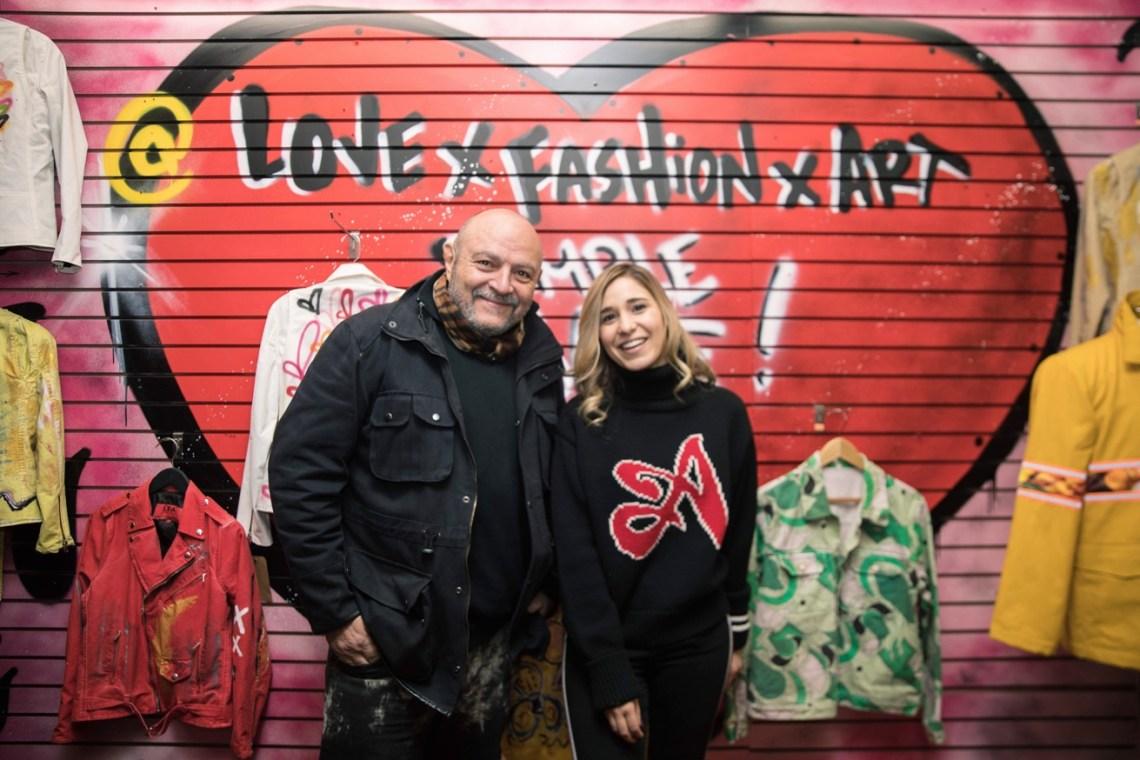 Bernard Aidan owner of Love X Fashion X Art and pop up curator Giana Elenterio