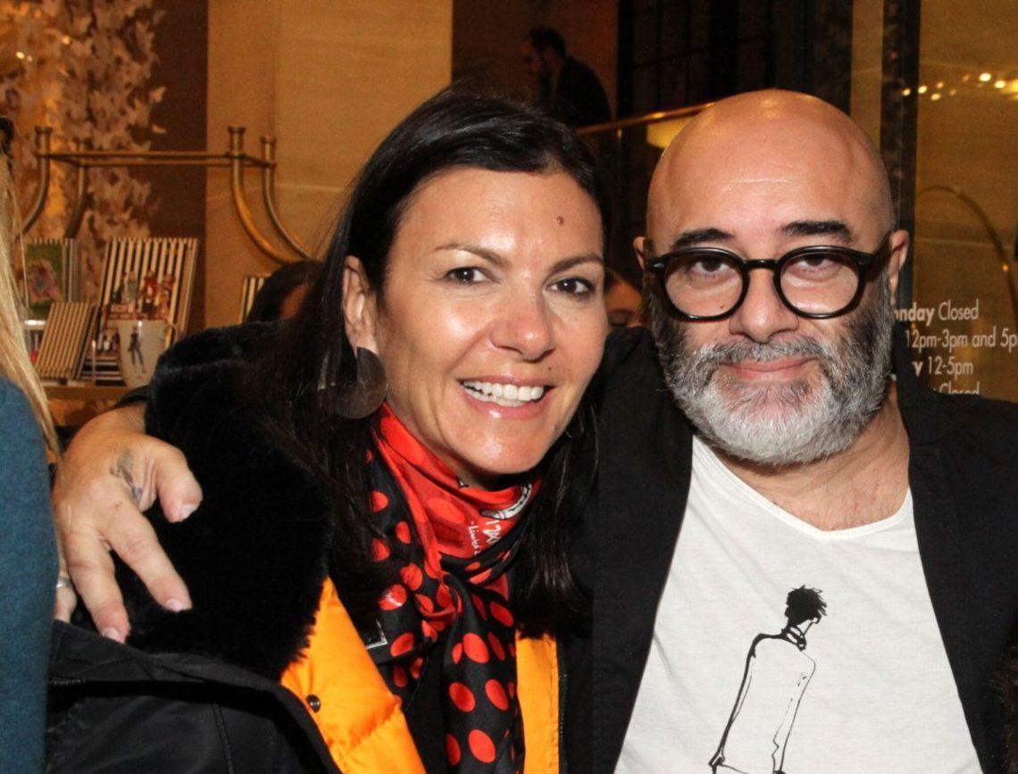 Henri Bendel creative director Pina Ferlisi with Izak Zenou