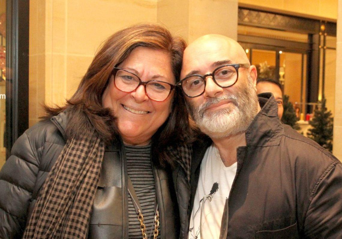 the artist with Fern Mallis
