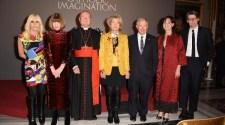 Donatella Versace, Anna Wintour, Cardinal Gianfranco Ravasi, Christine Schwarzman, Stephen A. Schwarzman, Carrie Rebora Barratt, and Andrew Bolton