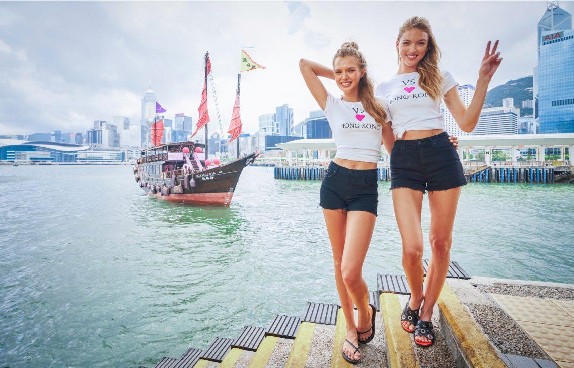Josephina Skriver, Martha Hunt celebrate Victoria's Secret Hong Kong store opening (2)