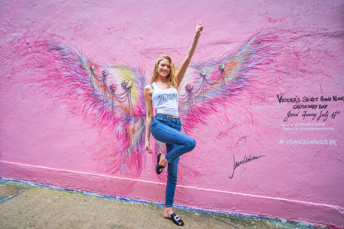 Martha Hunt celebrates Victoria's Secret Hong Kong store opening
