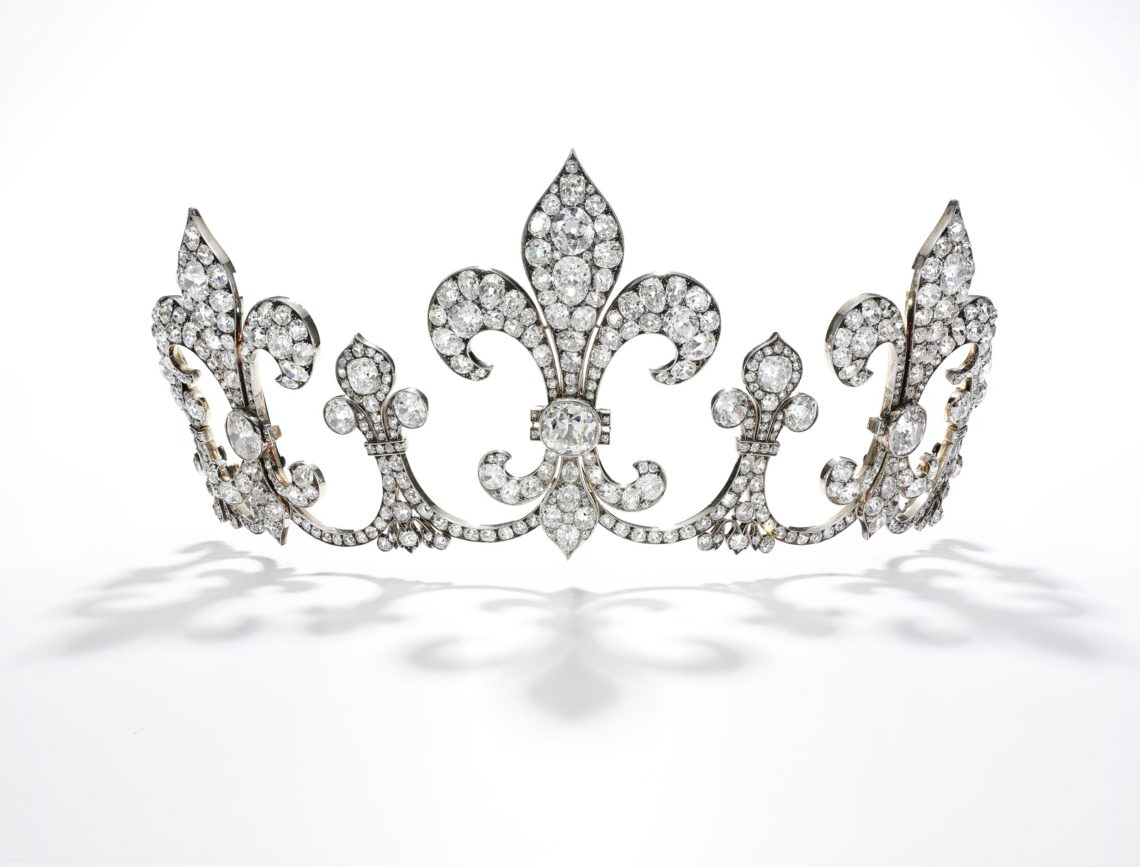 Diamond tiara, Hübner, circa 1912 - Royal Jewels from the Bourbon Parma Family - Sotheby's Geneva 14 Nov 2018