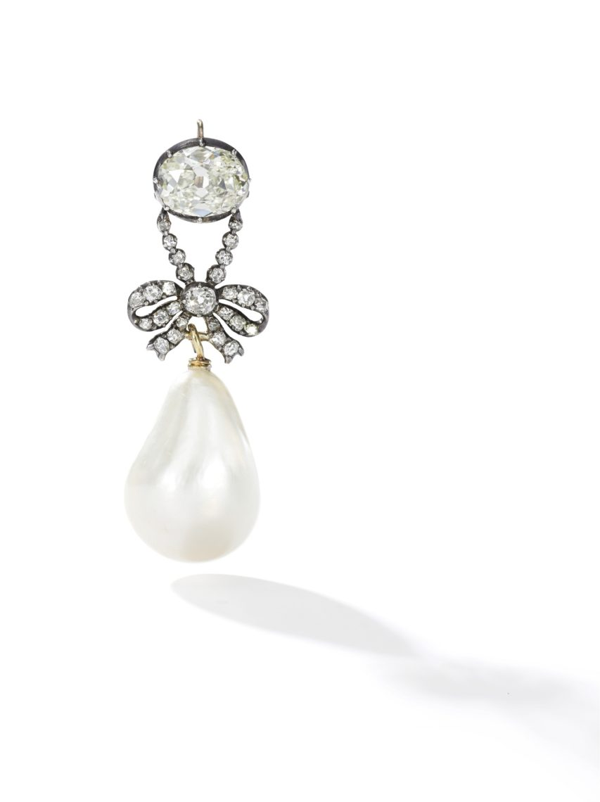 Queen Marie Antoinette's Pearl - Exceptional and highly important natural pearl and diamond pendant, 18th century - Sotheby's Geneva 14 Nov 2018