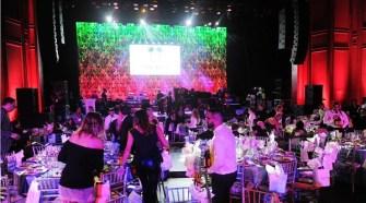 Phil Collins, Jon Secada, Emily Estefan, Evander Holyfield at Dreaming on the Beach Gala