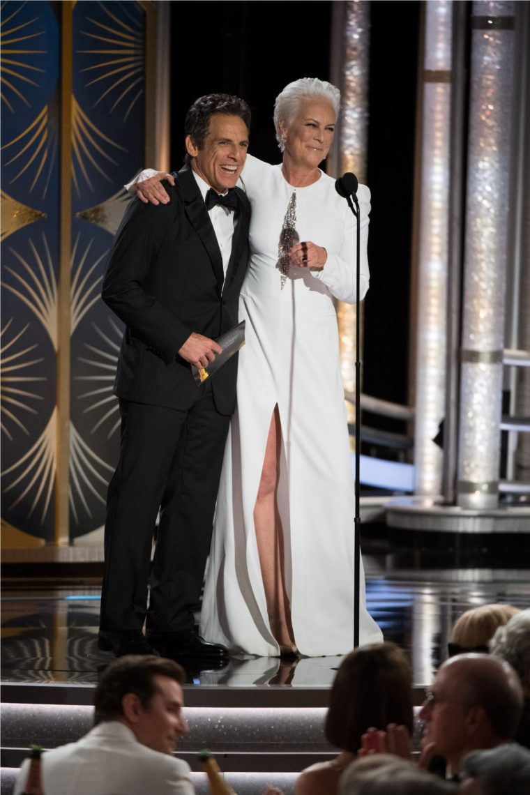 Ben Stiller and Jamie Lee Curtis present at the 76th Annual Golden Globe Awards at the Beverly Hilton in Beverly Hills, CA on Sunday, January 6, 2019.