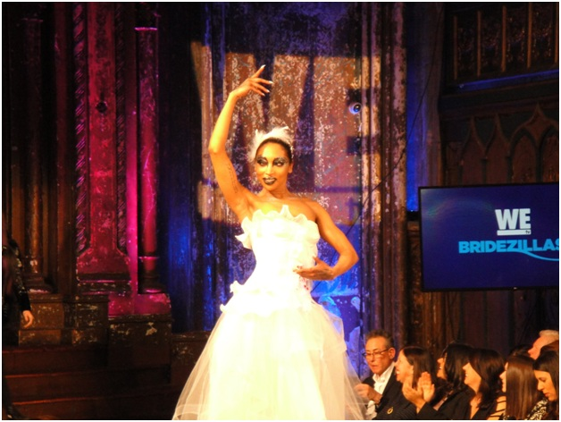 """WE tv puts emerging designers on display in fashion show celebrating all things """"Bridezilla"""" on March 13, 2019 at Angel Orensanz Foundation in New York City.(Photo by Shaun and Justin Thompson with GoLucky Studios)"""