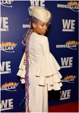 """Lil Mama attends We TV's premiere fashion event celebrating the return of """"Bridezillas"""" on March 13, 2019 at Angel Orensanz Foundation in New York City. (Photo by Dia Dipasupil/Getty Images for WE tv)"""
