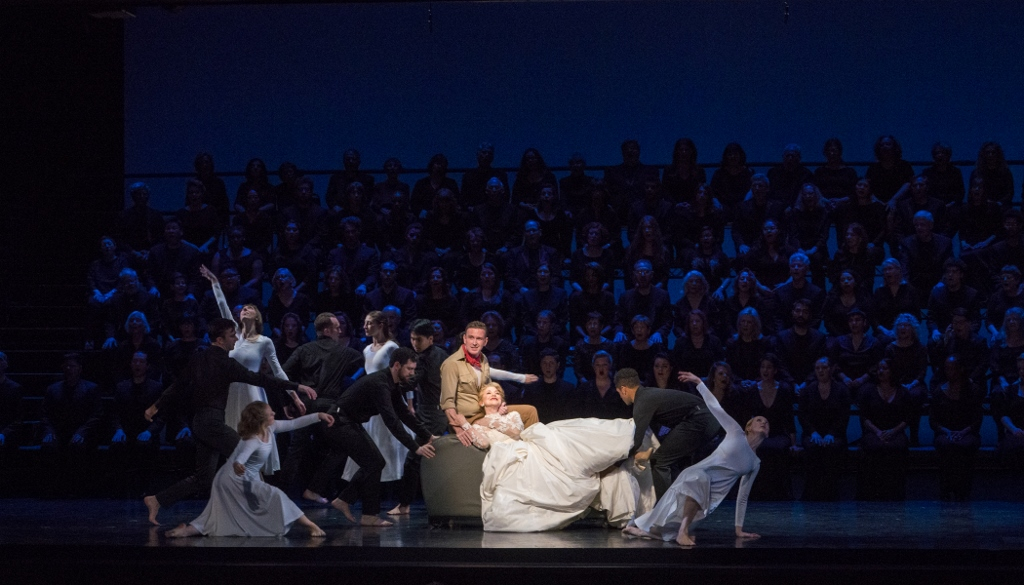 Ben Davis, Victoria Clark and Doug Varone and Dancers in the Wedding Dream Photo by Richard Termine