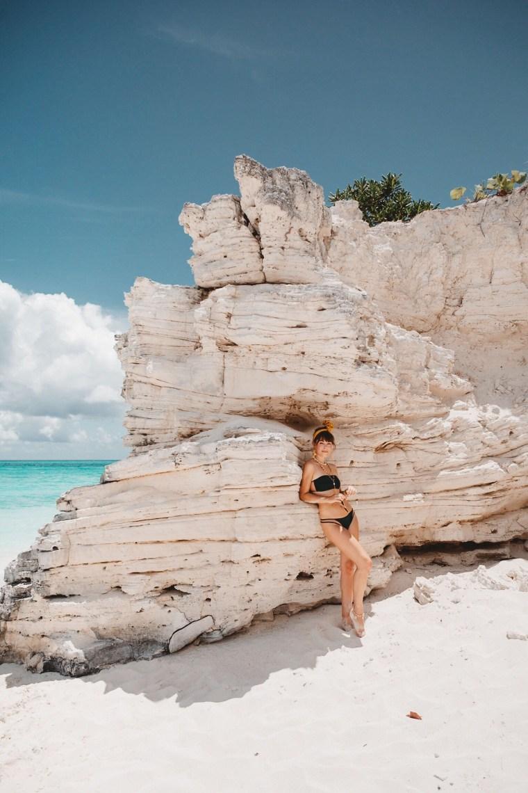 Jenny Cipoletti Celebrating VS Swim in Turks & Caicos