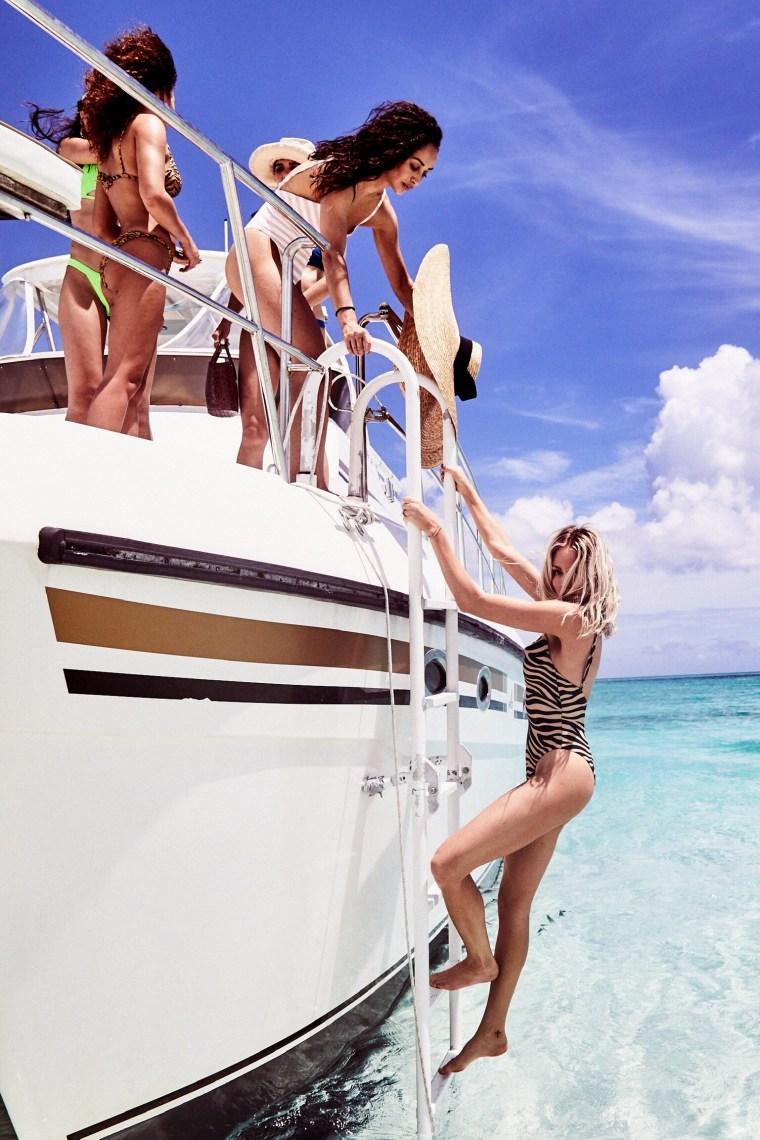 Shea Marie and Cara Santana Celebrating VS Swim in Turks & Caicos