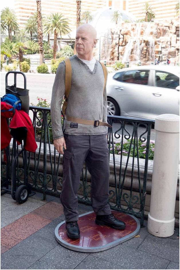 Bruce Willis courtesy of Madam Tussaud's in Las Vegas