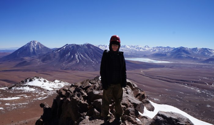 Carol Prusa in Atacama, Chile, where she traveled to witness an eclipse.